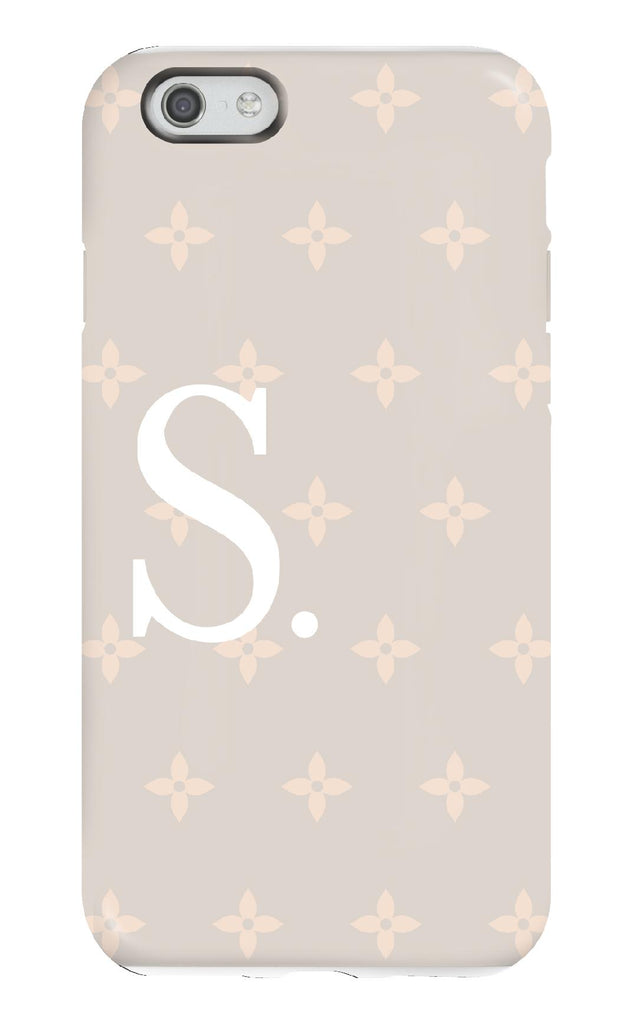 Personalised Nude Flower Tough Phone Case