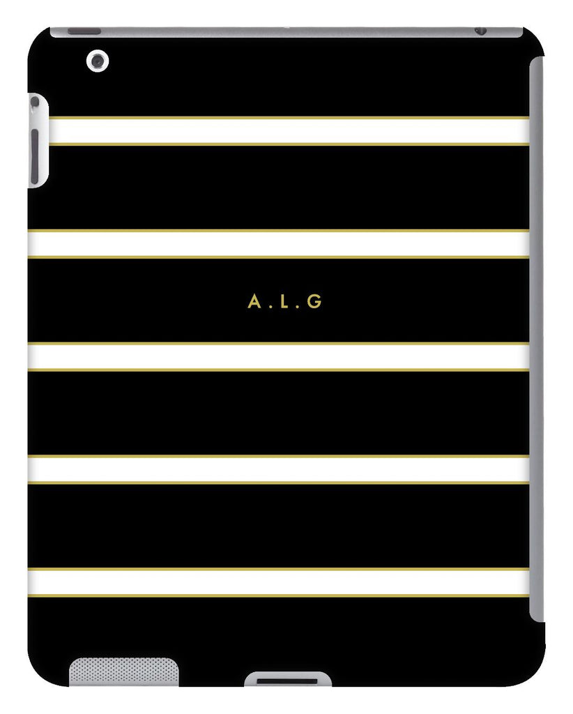 Black and White Striped iPad Case