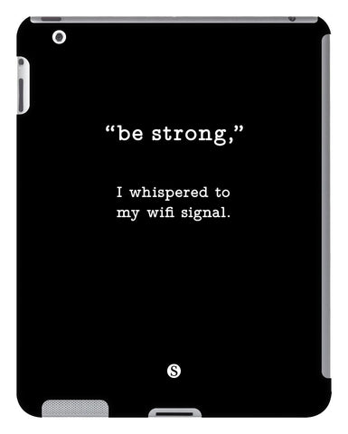 Black Be Strong iPad Case