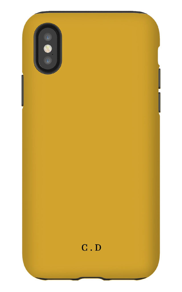 Personalised Mustard Tough Phone Case