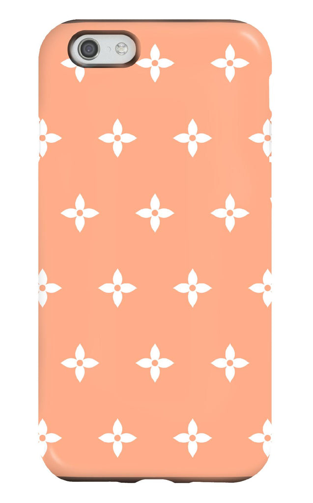Coral and White Flower Tough Phone Case