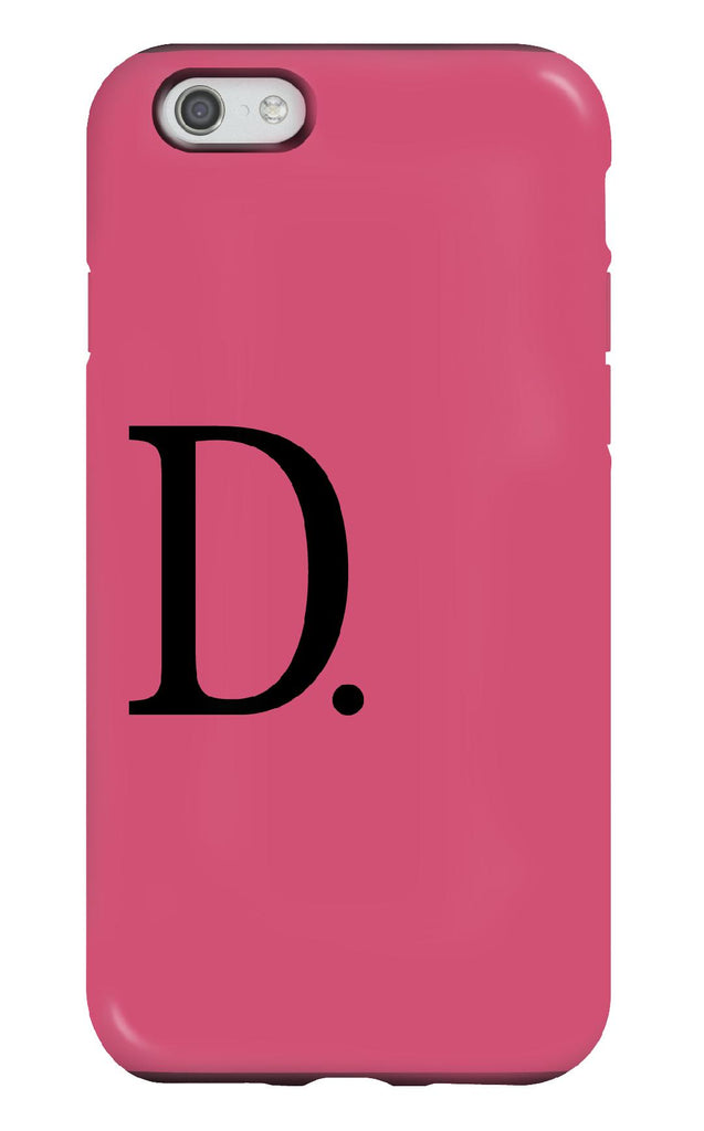 Personalised Pink and Black Tough Phone Case