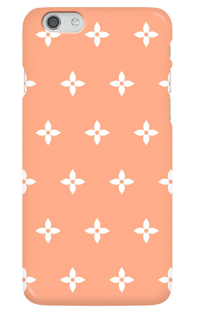 Coral and White Flower Phone Case