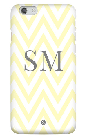 Personalised Zig Zag Yellow and Grey case