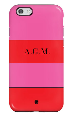 Personalised Two Tone Stripe Tough Phone Case