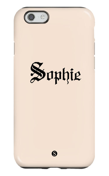 Personalised Nude Tough Phone Case