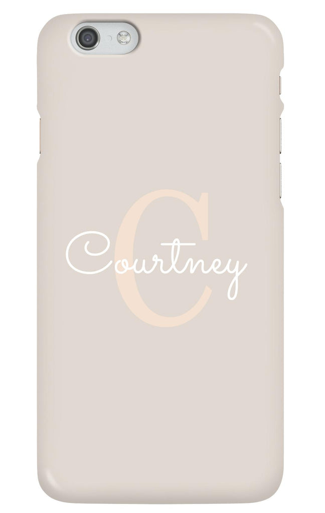 Personalised Nude and White Letter Case