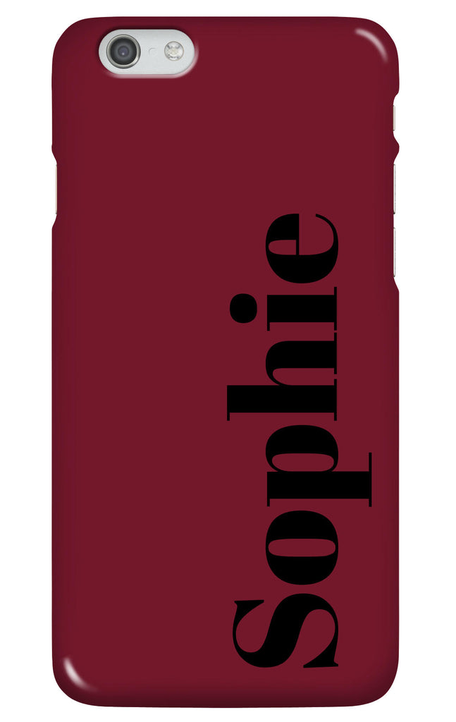 Personalised Deep Red Phone Case