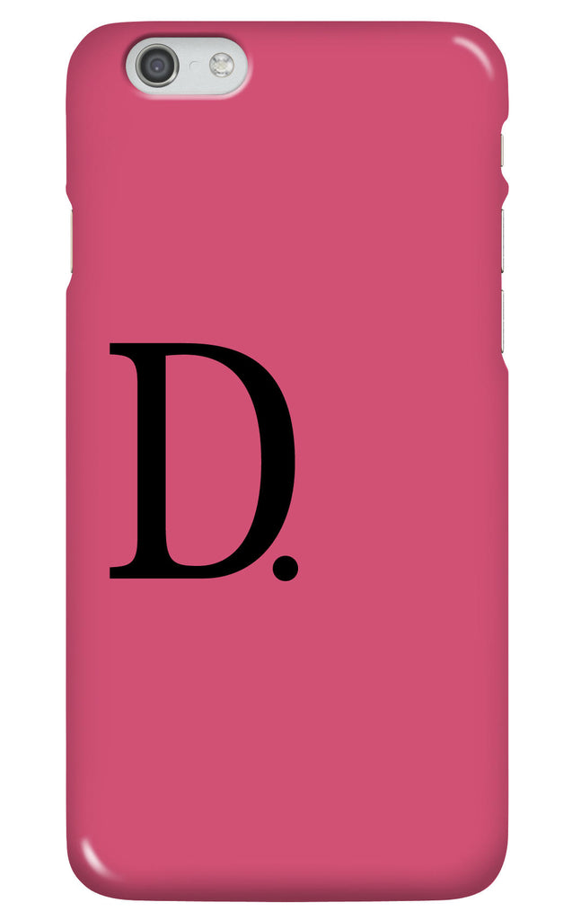 Personalised Pink and Black Phone case