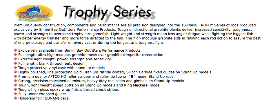 tsunami trophy series fishing rods