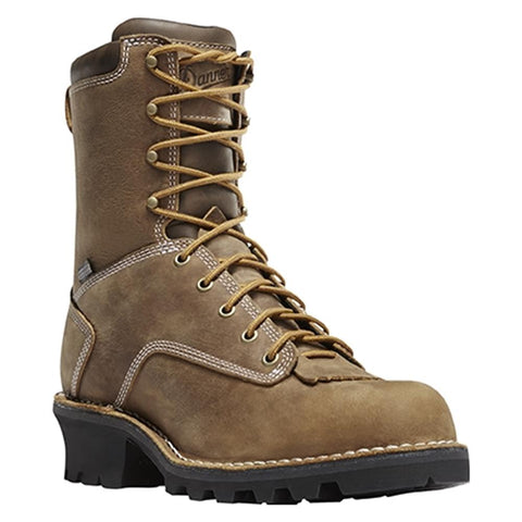 DANNER LOGGER BOOTS BROWN Insulated 400G Plain Toe