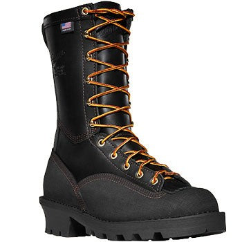 Danner Flashpoint II All Leather Black Men's Fire Logger Boots