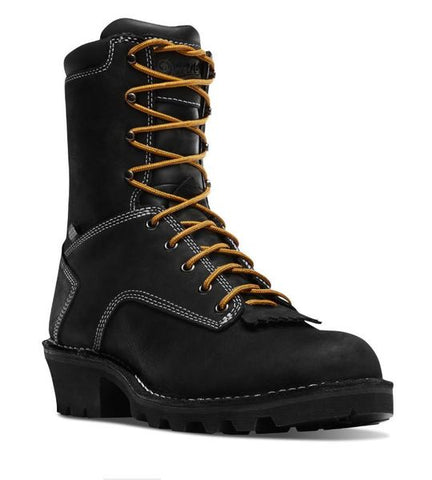 DANNER LOGGER BOOTS BLACK Non Insulated Plain Toe