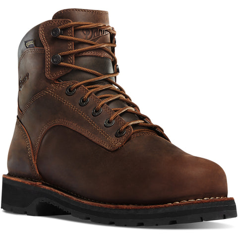 Danner WORKMAN 6 inch all BROWN with brown laces Plain Toe Boots