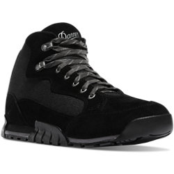 Danner SKYRIDGE 4.5 inch JET BLACK Hiking Boots with black and grey laces and Danner written in grey