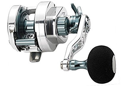 Maxel Hybrid Conventional Star Drag Jigging Reel HY20-BG Fishing Reel Silver Gun Metal - Left Handed