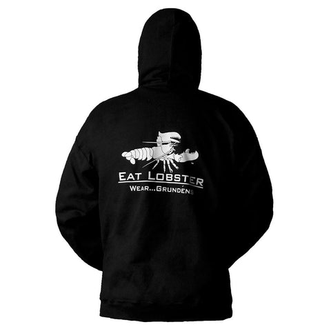 Grundens Eat Lobster Sweatshirt Black/White Pink/Black