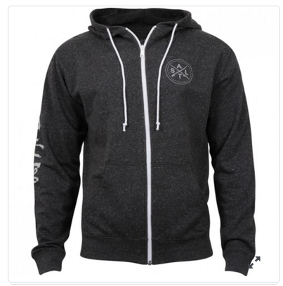 Salt Life Men's Stacked Hoodie Black