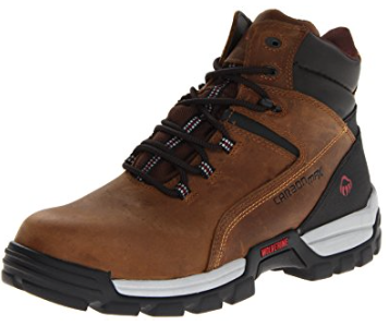 "Wolverine TARMAC WATERPROOF REFLECTIVE COMPOSITE-TOE EH 6"" WORK BOOT Brown"