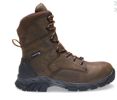 "Wolverine GLACIER ICE WATERPROOF INSULATED CARBONMAX 8"" Safety Toe Boots"