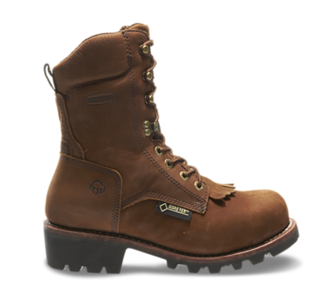Wolverine CHESAPEAKE WATERPROOF STEEL TOE EH 8 inch insulated brown LOGGER WORK BOOTS