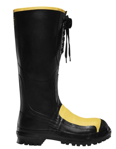 "LaCrosse Meta Pac 16"" Black Metatarsal Guard / Steel Toe black and yellow"