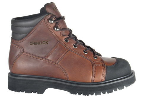 CHINOOK OIL RESISTANT LUG TRACTION SOLE BOOTS Brown Contractor boots