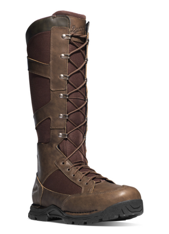 "Danner PRONGHORN SNAKE BOOTS SIDE-ZIP 17"" BROWN"
