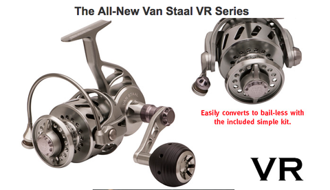 The all new Van Staal VR150 Fishing Reel silver