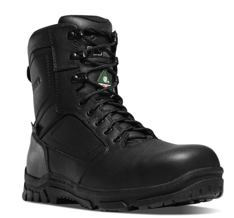 Danner LOOKOUT EMS/CSA SIDE-ZIP 8 inch NON-METALLIC TOE Body Fluid Borne Pathogen Resistant EH Certified Puncture resistant midsole EH Certified black