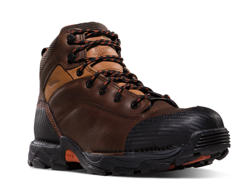Danner CORVALLIS BROWN NON-METALLIC TOE 5 inch Boots two tone brown with black toe and heel