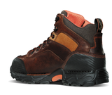 Danner CORVALLIS BROWN NON-METALLIC TOE 5 inch Boots two tone brown with black toe and heel orange inside