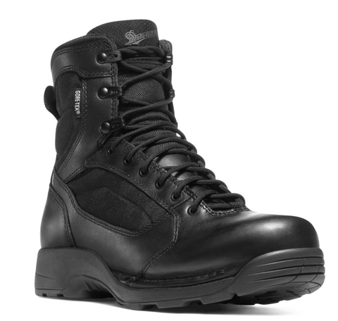 Danner STRIKER TORRENT SIDE ZIP 6 inch Boots All Black with black laces and soles