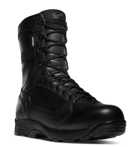 Danner STRIKER TORRENT SIDE-ZIP 8 inch ALL LEATHER Black Boots with black laces