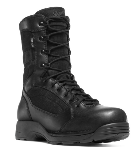 Danner STRIKER TORRENT SIDE-ZIP 8 inch all Black Boots with black laces