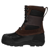 LaCrosse OUTPOST II 11 inch BROWN on top black rubber across whole bottom Boots