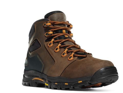 Danner VICIOUS 4.5 inch two toned BROWN/ORANGE Plain Toe Boots EH Rated orange eyelets and orange laces