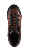 Danner 453 BROWN Hiking Boots black toe cap black sole with black laces and black accent piece across with Danner logo back of heel