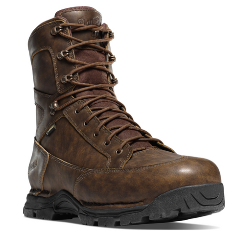 Danner PRONGHORN 8 inch BROWN ALL-LEATHER INSULATED 400 grams brown marble look with brown laces