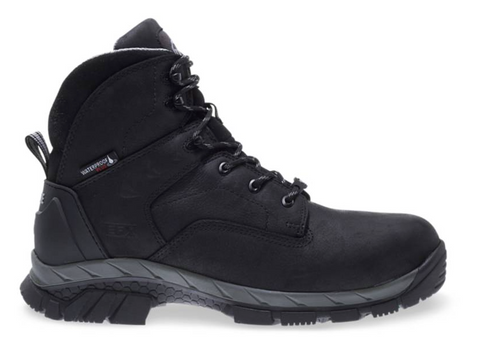 Wolverine GLACIER ICE WATERPROOF INSULATED CARBONMAX 6 inch black Boots grey around bottom