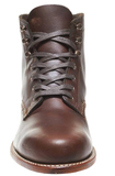 Wolverine ORIGINAL 1000 MILE Dress BOOT - Best Seller dark brown with brown flat waxed cotton laces small heel white threading around sole 6 inches height