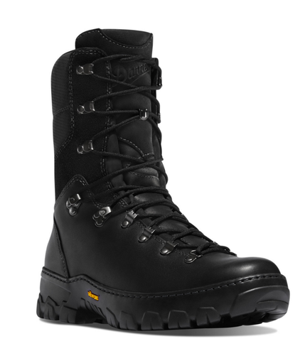 Danner WILDLAND TACTICAL FIREFIGHTER 8 inch BLACK SMOOTH-OUT Boots with black laces