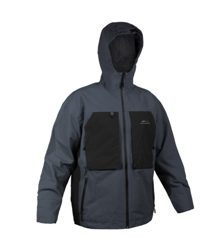 Grundens storm rider hooded jacket color dark slate with black pockets