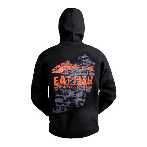 Grundens eat fish hooded sweatshirt