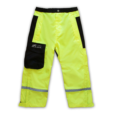 Kids and Juniors High Vis Yellow Pants. Matching kids and juniors jacket also available.