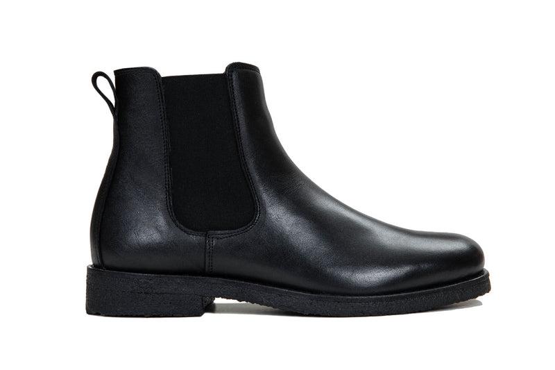 Chelsea Boot - Black Leather - Lordya