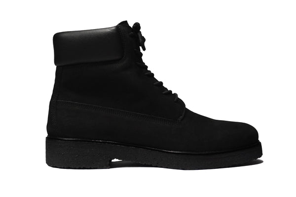 Lordya - Lace-up Timber Boots Black