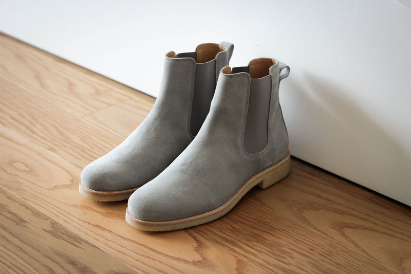Chelsea Boots - Light Grey - Lordya