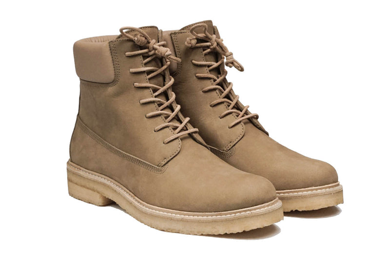 Lordya - Lace-up Timber Boots Tan