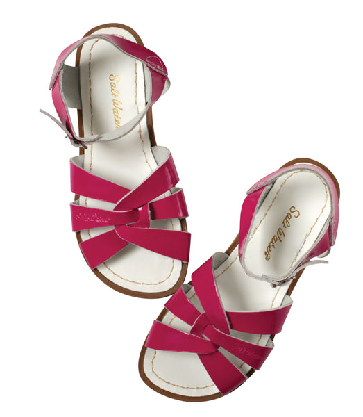 saltwater sandals original child shiny fuchsia - little pearls by shoe chou
